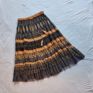 Sheer boho skirt